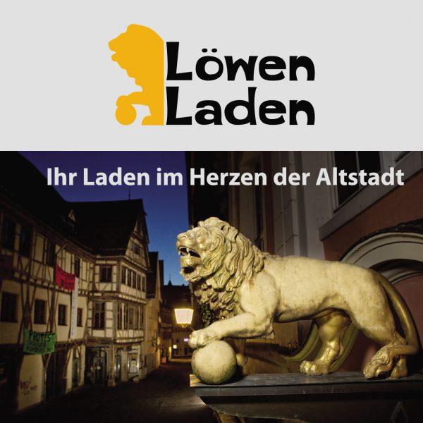 Titel-Seite Löwen-Laden-Flyer. Layout: Madeleine Herre. Foto: Martin Schreier