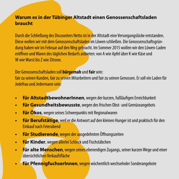 Seite 2 Löwen-Laden-Flyer. Layout: Madeleine Herre