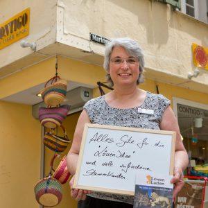 """""""Alles Gute für die Löwen-Idee und viele zufriedene Stammkunden"""", wünscht Franziska Holl, Contigo. Tübingen 2015. Foto: Martin Schreier / schreier.co"""