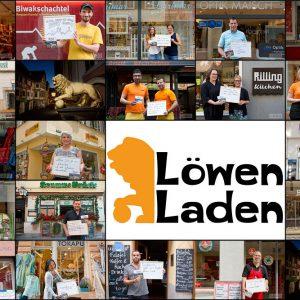 Collage Nachbargeschäfte vom Löwen-Laden. Tübingen 2015. Foto: Martin Schreier / www.schreier.co