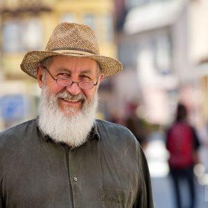 Bruno Gebhart, Vorstandsvorsitzender der Genossenschaftsladen im Löwen eG. Tübingen 2015. Foto: Martin Schreier / www.schreier.co
