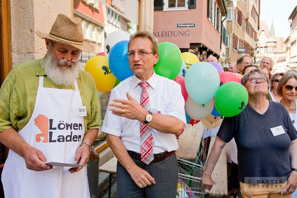 Löwen-Laden-Eröffnung. Tübingen 2015. Foto: Martin Schreier / schreier.co